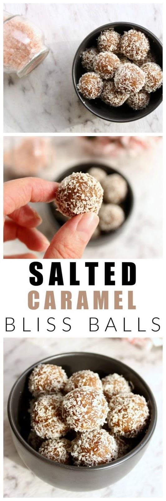 Salted caramel bliss balls | Healthy, refined sugar free