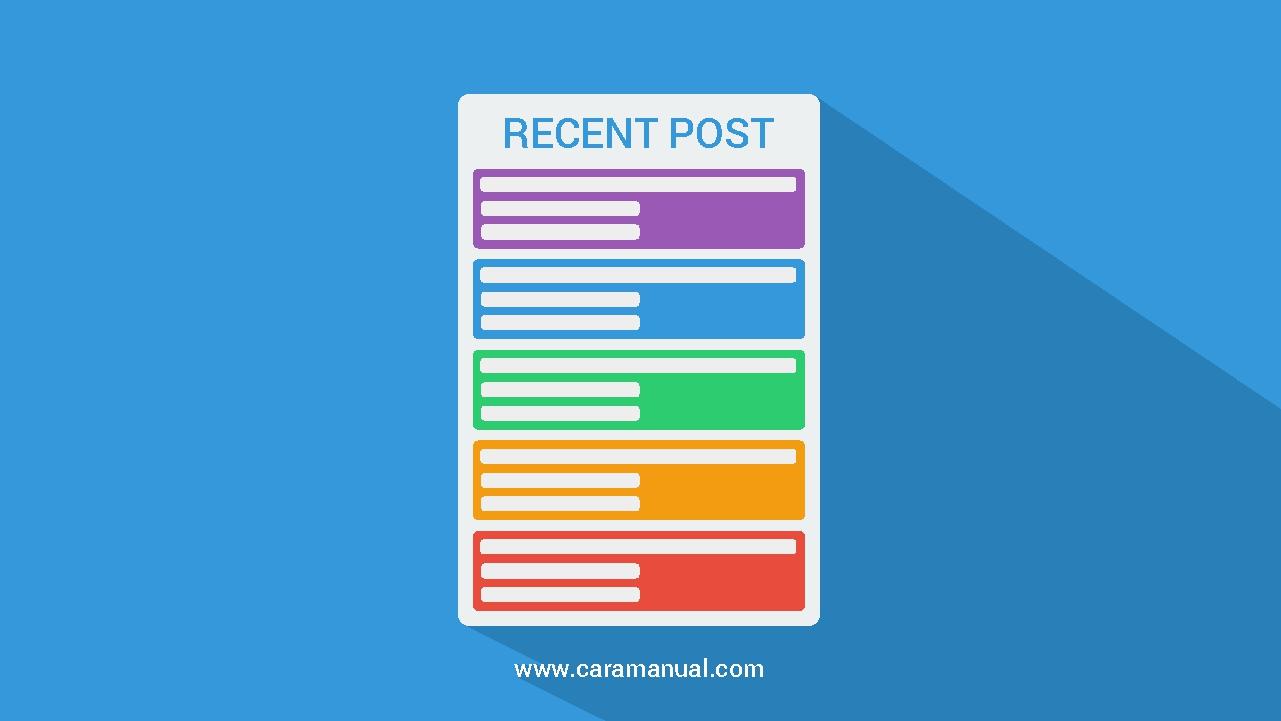 Cara Membuat Widget Recent Post Keren Warna Warni di Blog