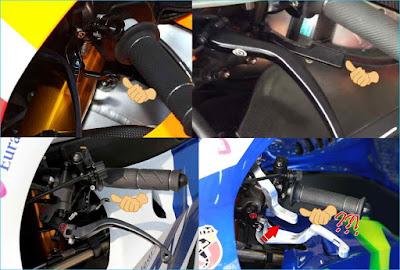 Ekstra lever for Thumb brake di Motogp