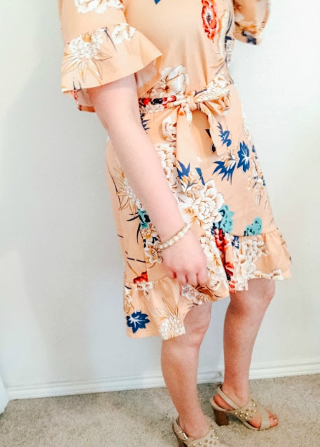 Floral Dress Paired With Heels
