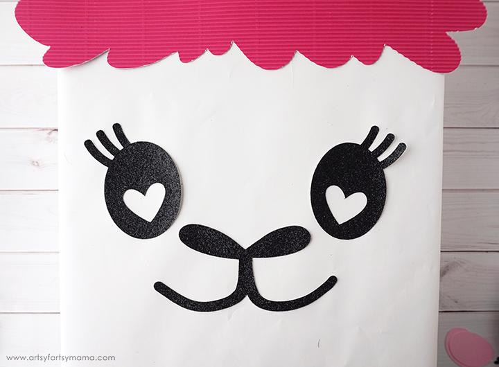 Llama Valentine Card Box