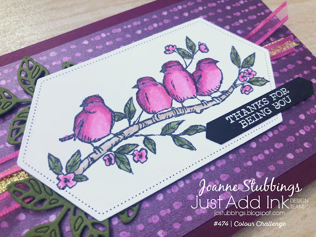 Jo's Stamping Spot - Just Add Ink Challenge #474 using Free As A Bird stamp set by Stampin' Up!