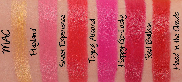MAC MONDAY | Playland Lipsticks Swatches & Review