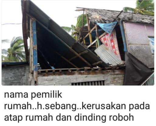 Angin Kencang Dan Pohon Tumbang ,Rusak Rumah Warga Di Takabonerate