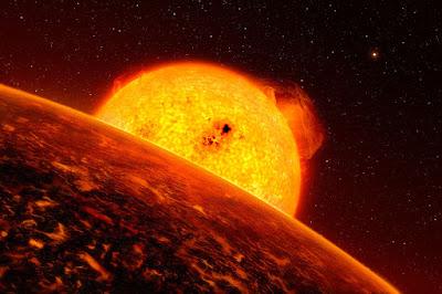 COROT 7b, el exoplaneta en el que llueven rocas ígneas