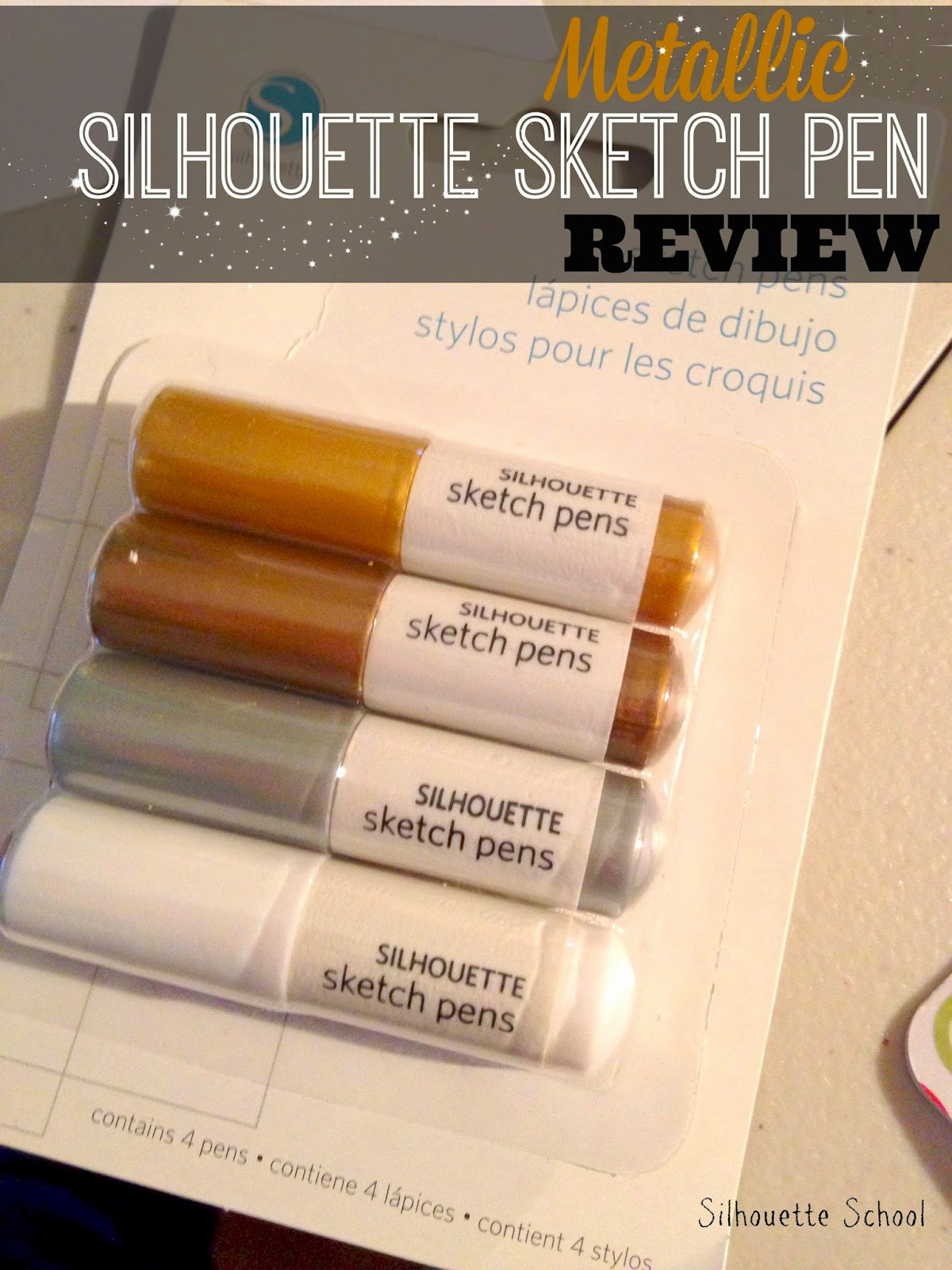 Silhouette sketch pen, white, metallic, review