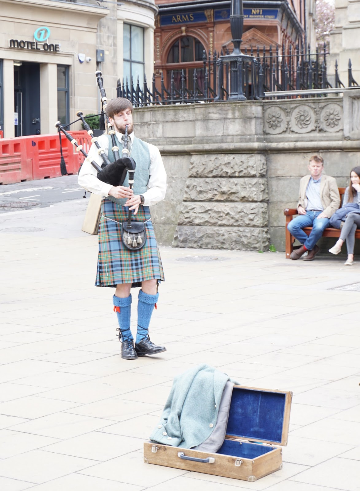 Bagpipes player Edinburgh