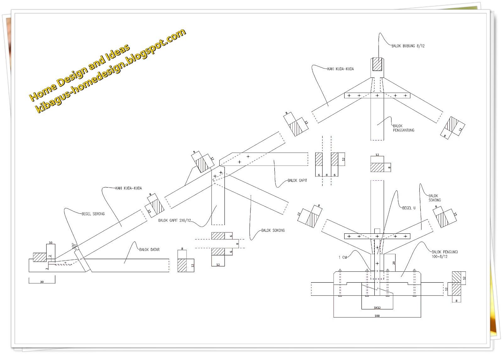 Model Kuda Kuda Kayu Untuk Rumah Tinggal Detail Dan Bentuk