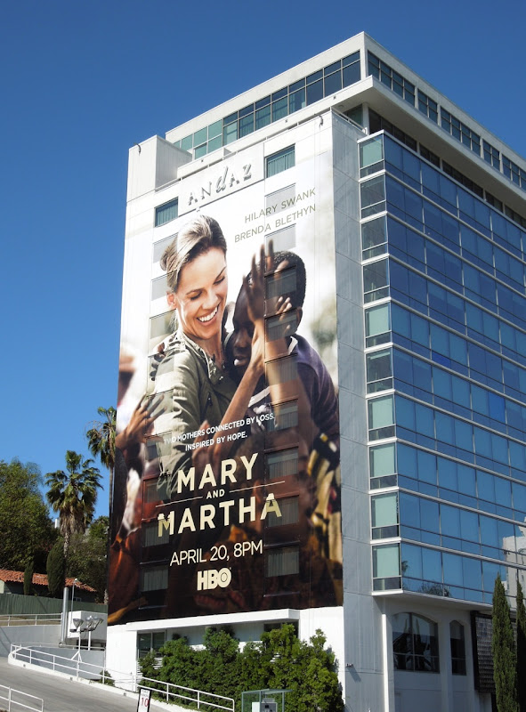 Giant Mary and Martha billboard