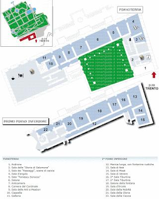 Planimetria Villa d'Este Tivoli