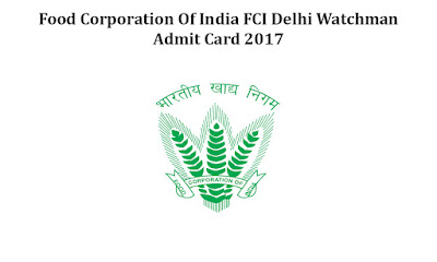 FCI Delhi Watchman Written Exam Result 2018