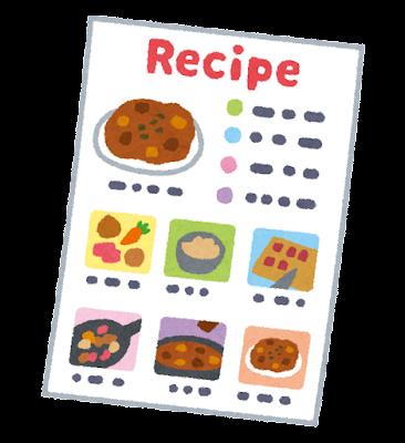 レシピのイラスト