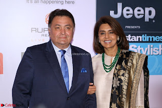 Red Carpet of Most Stylish Awards 2017 ~ Rishi Kapoor and his wife Neetu Singh (1).JPG