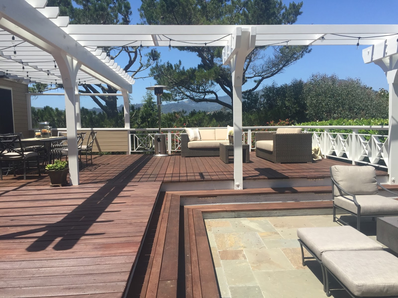 New Deck Slate Patio and California Casual Entertaining Classic