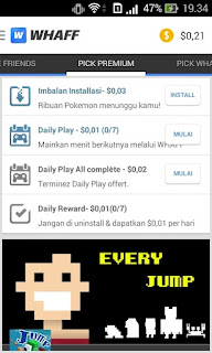 Instal Aplikasi Whaff Rewards