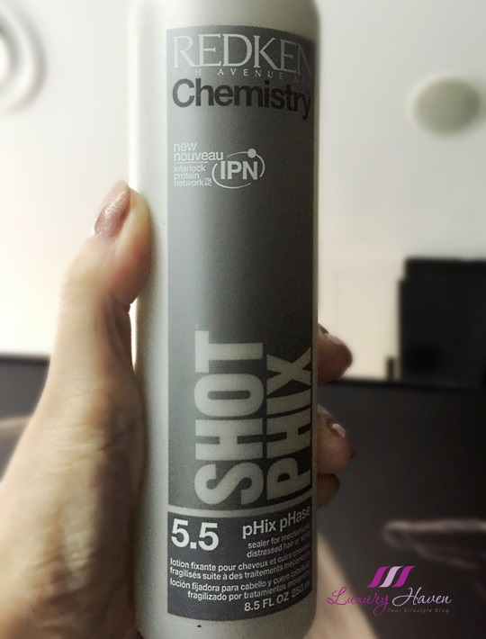 clover hair salon redken chemistry shot phix review