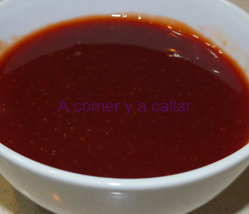 A comer y a callar salsa barbacoa al estilo fridays con for Salsa barbacoa ingredientes