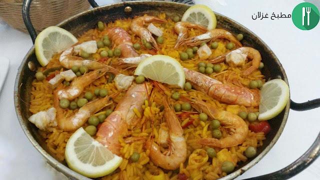 طريقة تحضير طبق البايلا Paella الإسبانية
