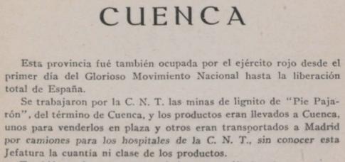 Extenso dossier sobre la minería y la industria española en la guerra civil 1935-1938