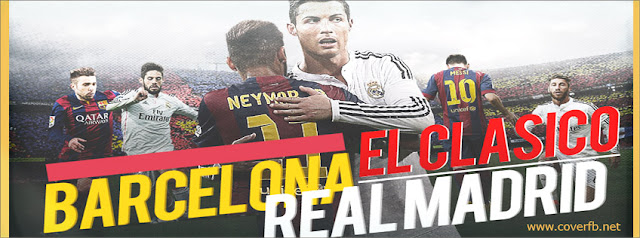 Barcelona and real madrid facebook cover