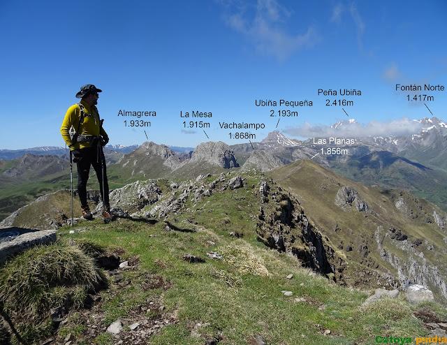 En la cima del  Pico la Tesa en el Parque Natural de Ubiñas-La Mesa