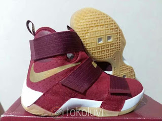 Nike LeBron Soldier 10 red White Sepatu Basket Premium, harga  nike lebron soldier 10, jual lebron soldier 10 merah,sepatu basket nike lebron