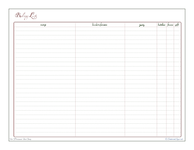 free printable, baking tracker, baking reference sheet, check list
