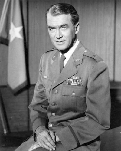 Portrait of actor James Stewart in his Brigadier General uniform