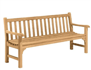 Oxford Garden Essex 6-Foot Shorea Bench, Outdoor Benches, Outdoor Furniture, Patio Furniture, Metal Outdoor Benches, Wooden Outdoor Benches,