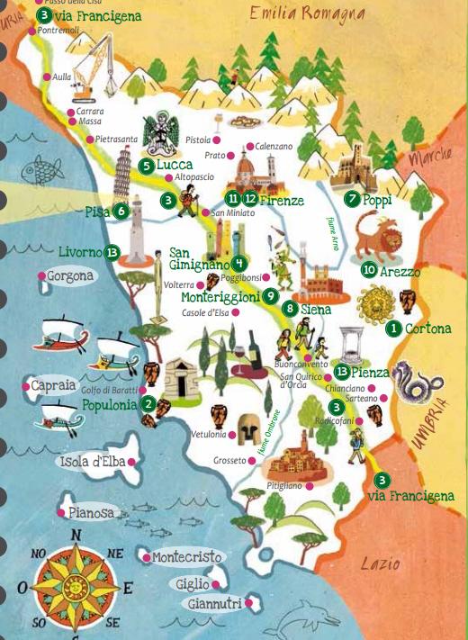 Cartina Toscana Da Stampare.Guide Turistiche Gratis Della Toscana Risparmia E Viaggia