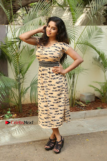 Telugu Actress Karunya Chowdary Stills in Short Dress at ATM Not Working Press Meet  0298.jpg