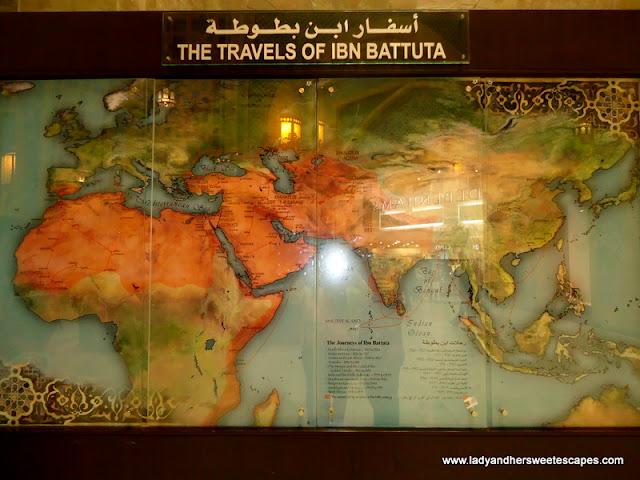 Map of the Travels of Ibn Battuta