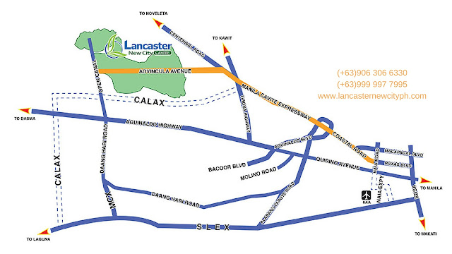 Sophie Model House - Lancaster New City Location Map