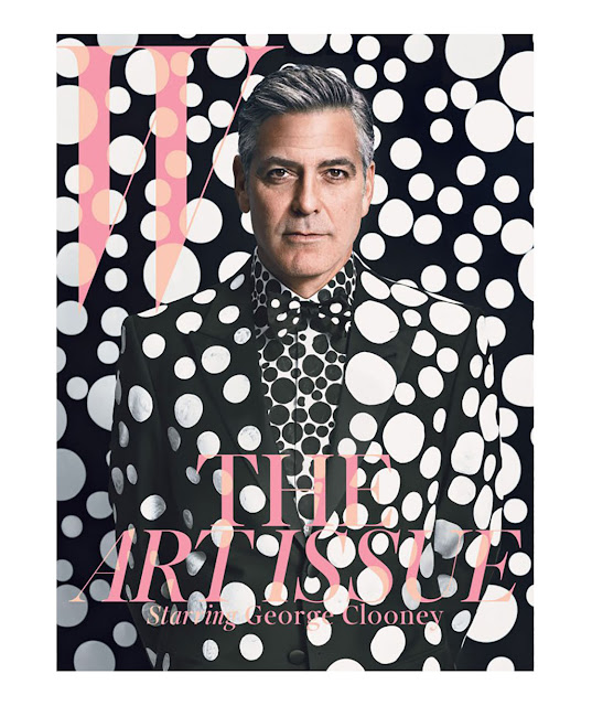 george clooney copertina w magazine pois outfit pois street style pois come abbinare i pois tendenze primavera estate 2016 mariafelicia magno fashion blogger fashion blog italiani color block by felym blogger italiane polka dots outfit how to wear polka dots ss trend