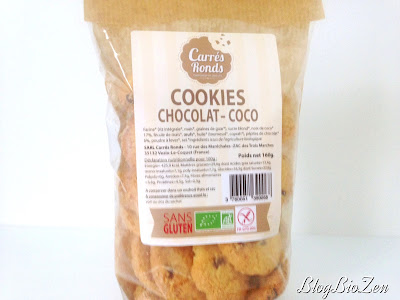 cookies chocolat - coco - Carrés Ronds