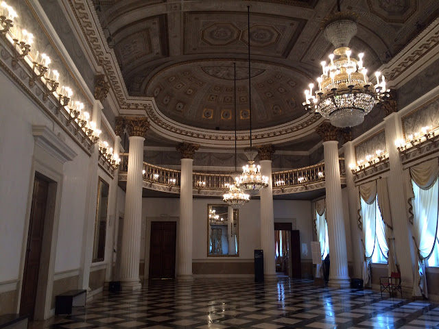 Ballroom in the Museo Correr, Venice, Italy