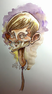 Dj Qualls - watercolor ©Guillaume Néel