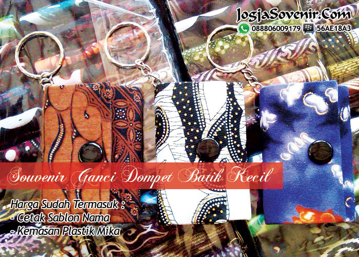 Jual souvenir gantungan batik
