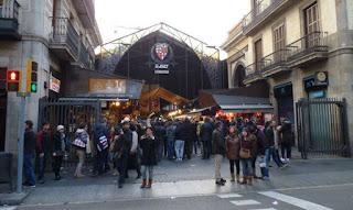 Las Ramblas de Barcelona, la Boquería.