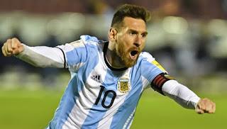 Lionel Messi Loloskan Argentina ke Piala Dunia