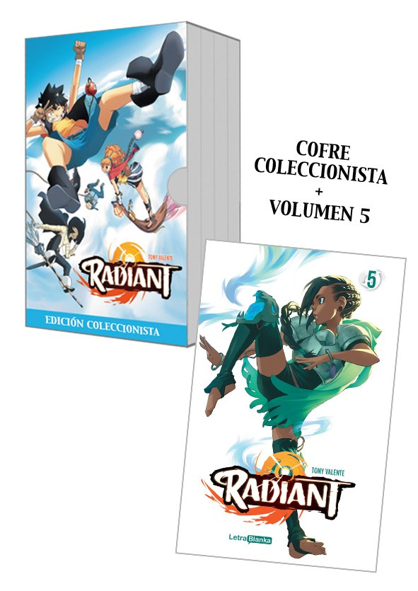 Radiant cofre manga volumen 5