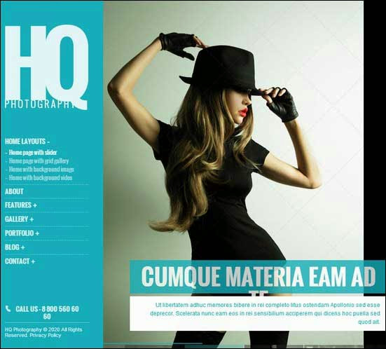 HQ Photography Responsive WP Theme