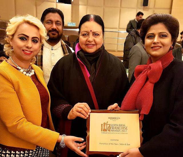 Prestigious Award for Cleopatra Beauty wellness & makeovers.