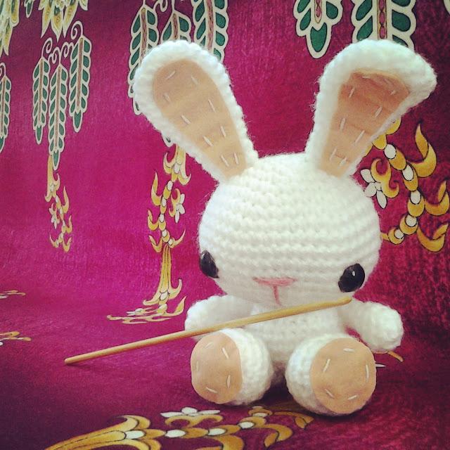 crochet bunny amigurumi photo by nephithyrion