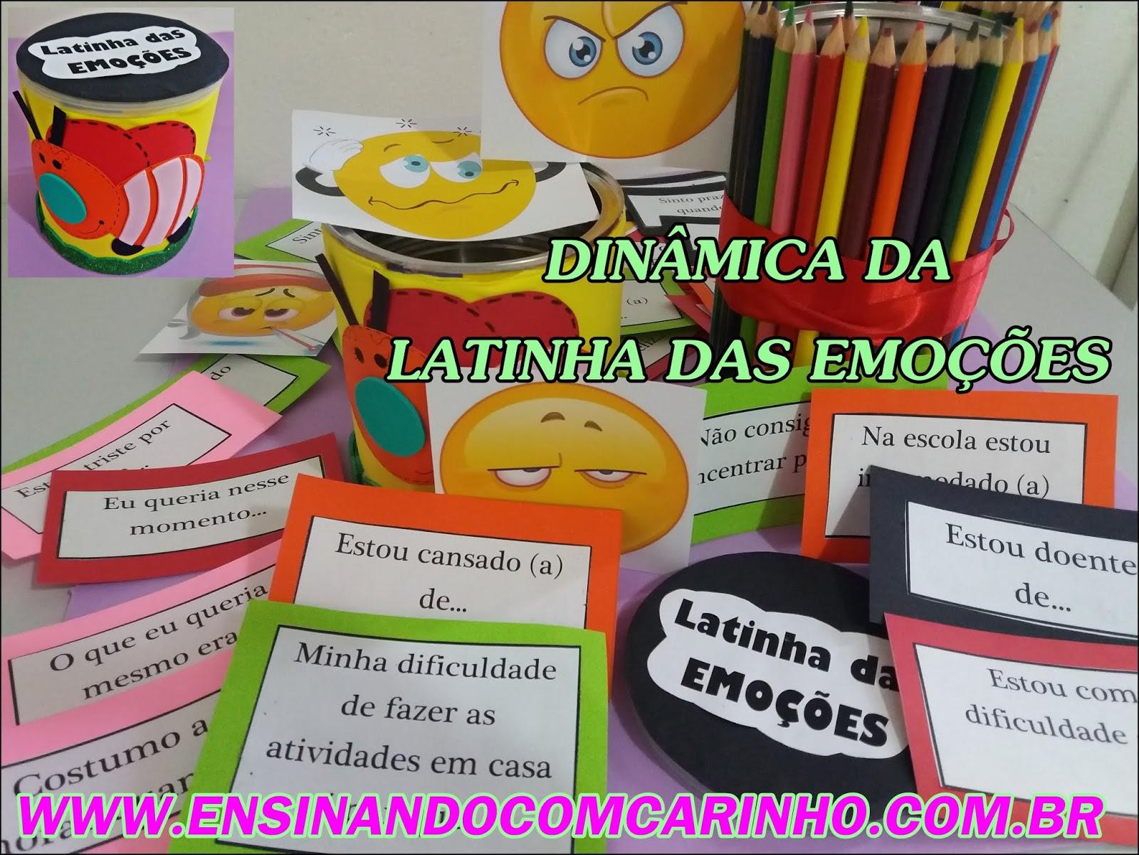 Dinamica Da Latinha Das Emocoes Para Todas As Series Ensinando