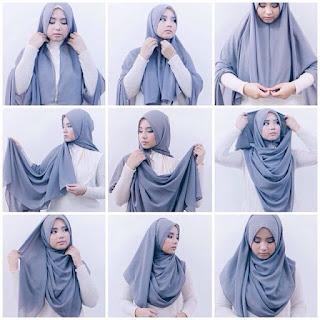 Tutorial Cara Hijab Pashmina Gambar