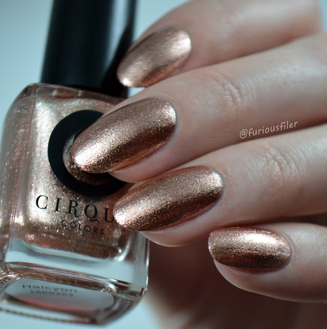 halcyon swatch cirque furious filer gold rose metallic