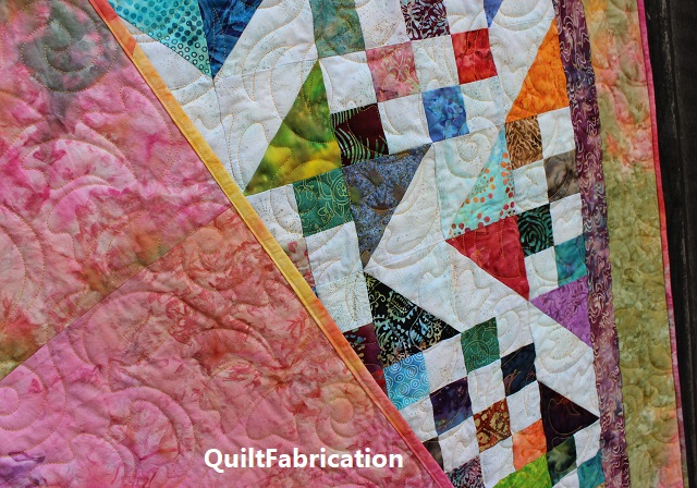Batik Scrap quilt backing and binding