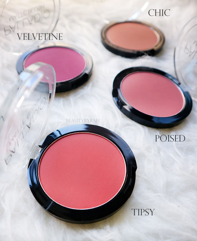 Palladio Matte Blushes Review and Swatches