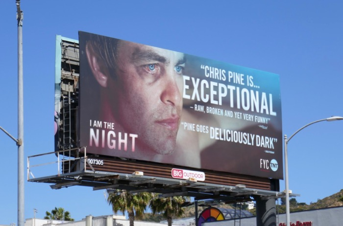 Chris Pine I Am the Night Emmy FYC billboard